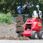 Solaris Auger System and Earth Drill on Mini Loader