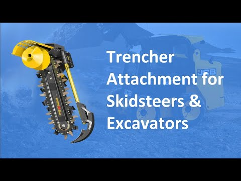 Trencher Attachment on a Skidsteer