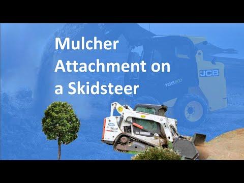 Solaris Mulcher on a Skidsteer