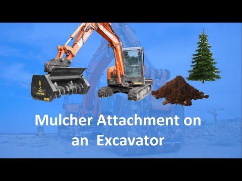 Solaris Mulcher on an Excavator