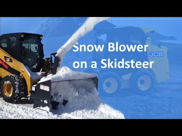Snow Blower on Skidsteer