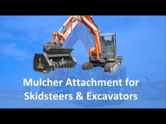 Mulcher Skidsteer & Excavator Attachment | Solaris Attachments (Highlight)