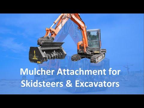 Mulcher Skidsteer & Excavator Attachment   Solaris Attachments (Highlight)