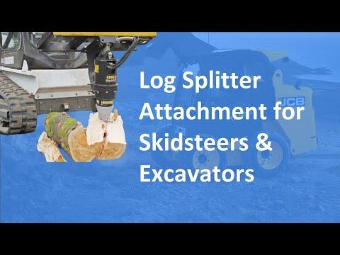 Log Splitter Skidsteer & Excavator Attachment   Solaris Attachments (Highlight)